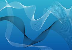 Modern blue wallpaper - stock illustration