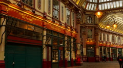 Leadenhall Market Hyperlapse - stock footage