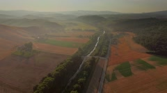 Tuscan Landscape Aerial Stock Footage