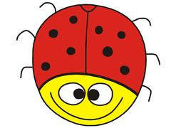 Funny ladybug Stock Photos