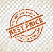 Stamp for best price - stock illustration