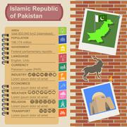 Pakistan  infographics, statistical data, sights Stock Illustration