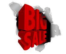 Big sale discount advertisement - stock illustration