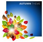 Autumn leafs background - stock illustration