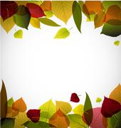 Autumn leafs abstract background - stock illustration