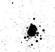 Black grunge spatter - stock photo