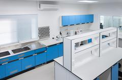 Science modern lab interior architecture. - stock photo