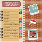 Singapore  infographics, statistical data, sights. - stock illustration
