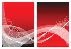 Love card with hearts - stock illustration