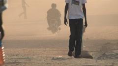 Busy Road in JUBA, SOUTH SUDAN - stock footage