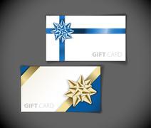 modern gift card templates - stock illustration