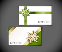 Set of modern gift card templates - stock illustration