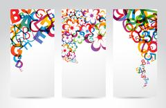Banners with colorful rainbow elements Stock Illustration