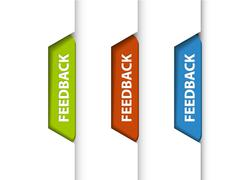 Feedback tabs on the edge of the (web) page - stock illustration