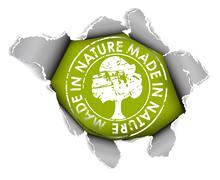 Ecological, organic item - stock illustration