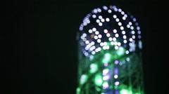 Night Batumi Boulevard Stock Footage