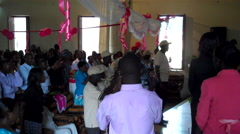Traditional African Church in South Sudan Stock Footage