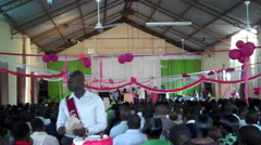 Stock Video Footage of Charismatic African Church in South Sudan