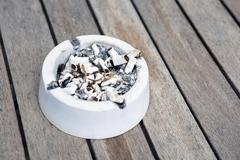 close-up of an ashtray - stock photo