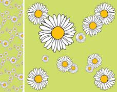 Floral endless pattern - stock illustration
