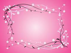 Flowers on pink background Stock Illustration