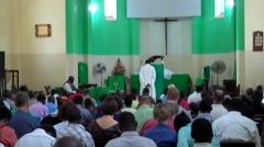 Stock Video Footage of Anglican Traditional African Church in South Sudan