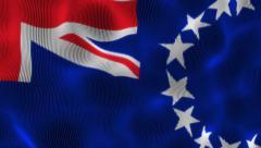 Waving Flag Cook Islands Stock Footage