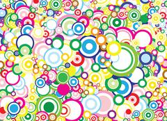 Vivid circles background - stock illustration