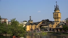 Main entrance and the territory of the Moscow Zoo. Stock Footage