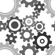 seamless cogwheel pattern - stock illustration