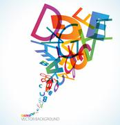 Abstract background with alphabet - stock illustration