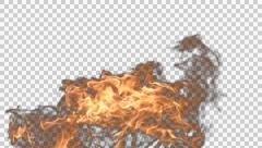 Fire in Action Ultra HD Alpha Channel. Stock Footage