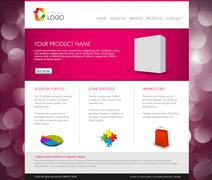 Stock Illustration of Vector Modern product homepage template