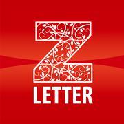 Stock Illustration of vector logo of the letter Z floral ornament