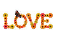 Stock Photo of Word Love