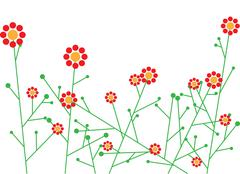 Abstract vector flowers Stock Photos