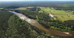 4K - View of the forest river. scene 02 Stock Footage