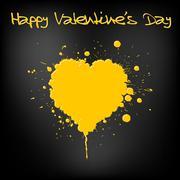 Grunge Valentines day card - stock illustration