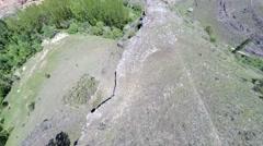 Aerial footage Duraton canyon and Sepulveda. Segovia. Castilla Leon. Spain. - stock footage