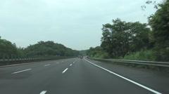 Freeway Driving Northbound Taiwan, POV, 4K -Dan Stock Footage