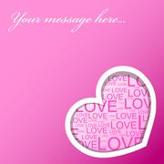 Stock Illustration of Love card with hearts