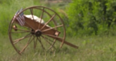 Handcart rack focus Stock Footage