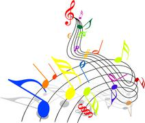 Music theme - stock illustration