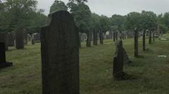 Graveyard in Rain, Union Cemetery Easton, CT Haunted - stock footage