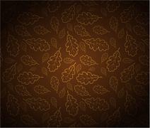 Oak leafs texture - stock illustration