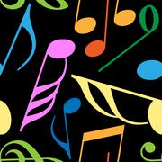 Endless music pattern - stock illustration