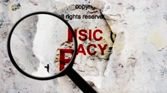 Search for music piracy Stock Footage