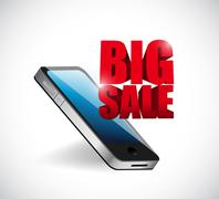 Big sale mobile phone business sign Stock Illustration