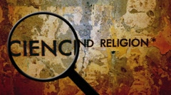 Science and religion exploration Stock Footage