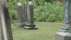 Union Cemetery Haunted Graveyard, Tombstone Row Stock Footage